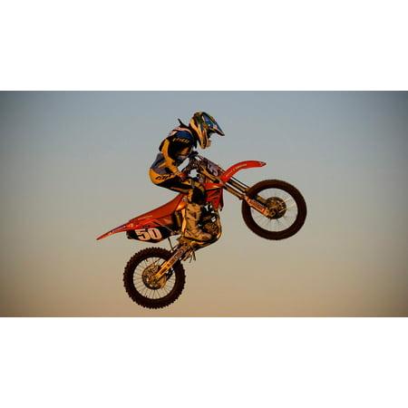 LAMINATED POSTER Rider Bike Motorcycle Dirt Motorbike Motocross Poster Print 24 x 36