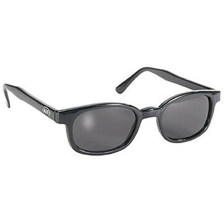 Original X-KD's 20% Larger Polarized Lenses Black Frame Biker Sunglasses