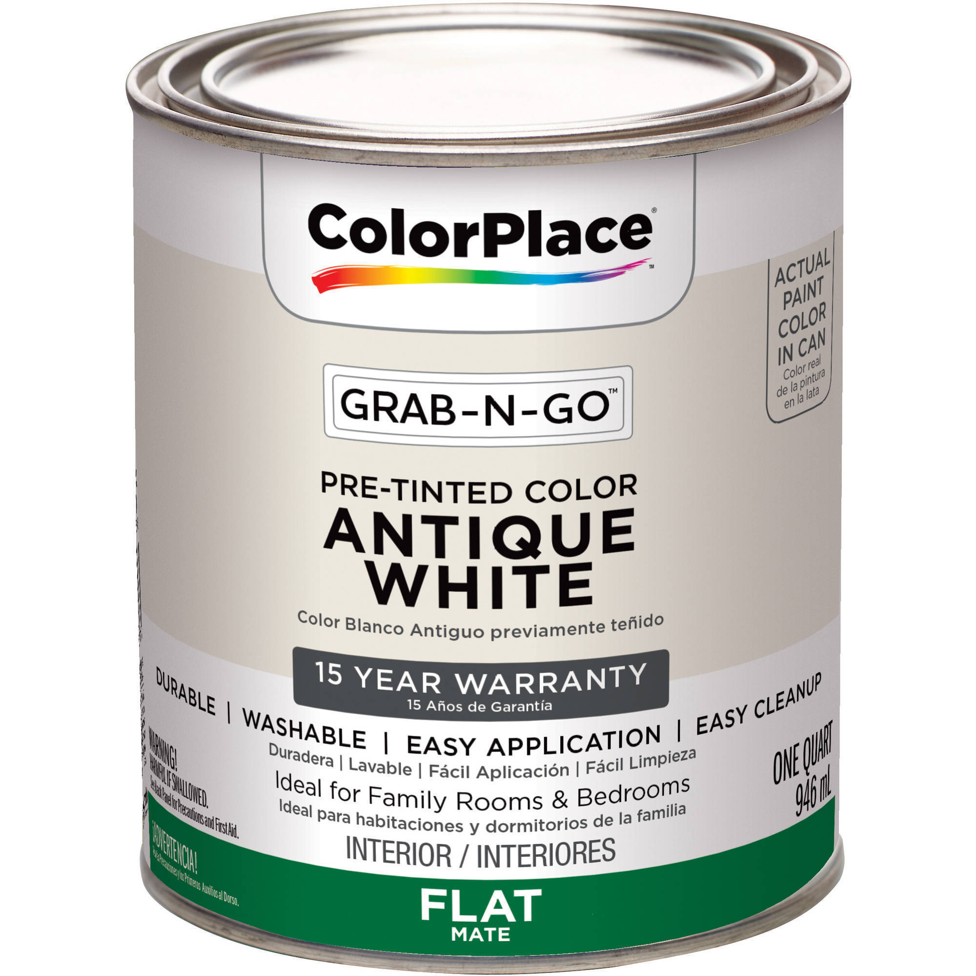 ColorPlace Grab-N-Go Antique White Interior Paint with Duck Brand ...