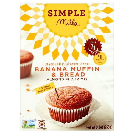 Simple Mills Banana Muffin & Bread Almond Flour Mix, 9.0 oz
