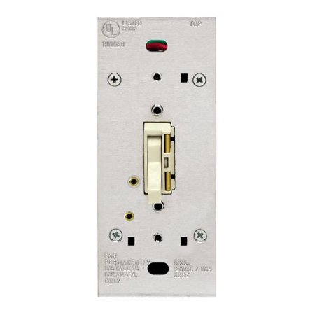 TGI10-1LI, ToggleTouch Preset Digital 1000W Incandescent Dimmer, Single Pole and 3-Way, Ivory, Provides single pole and 3-way operation when used with a 3-way.., By Leviton (Toggletouch Dimmer)