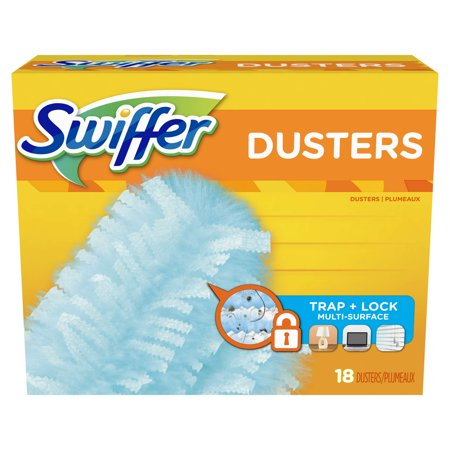 Flexible Floor Duster (Swiffer 180 Dusters, Multi Surface Refills, Unscented Scent, 18)