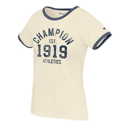 9c8e189240 Champion - Champion Women s Heritage Ringer Tee-Champion Est 1919 - W9843G  549660 - Walmart.com