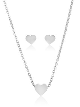 d080f09c2 Product Image Heart Shaped Necklace and Earrings Jewelry Set