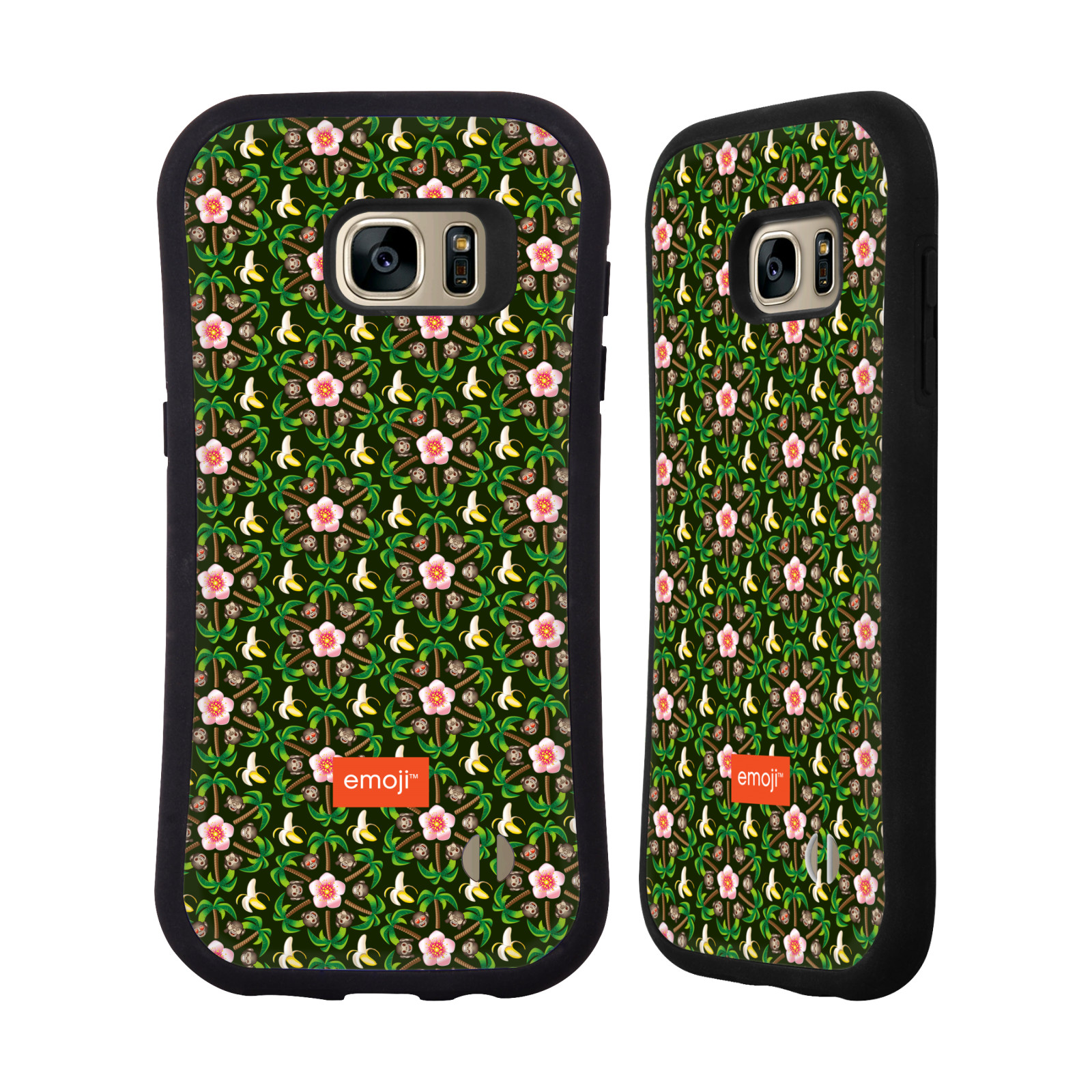 OFFICIAL EMOJI FLORAL PATTERNS HYBRID CASE FOR SAMSUNG PHONES