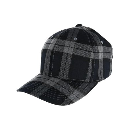 Men's Cotton Tartan Plaid Stretch Fit Baseball Hat (Flex Fit Plaid Hat)