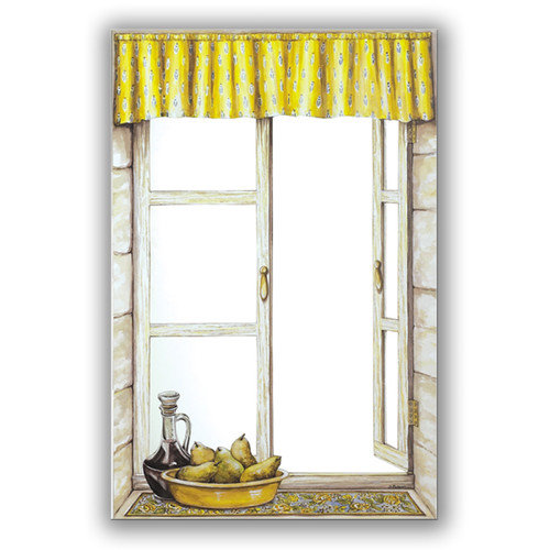 Stupell Industries Provence with Pears Faux Window Mirror Scene