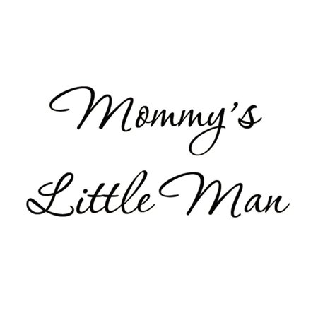 VWAQ Mommy's Little Man Nursery Wall Decals Cute Baby Quote Vinyl Nursery Wall Qutoes for Boys