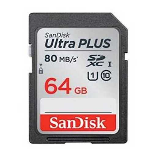 SanDisk Ultra Plus 64GB SDXC UHS-I Card - speed up to 80MB/s