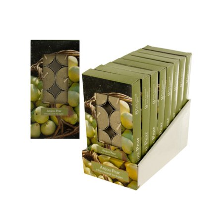 Anjou Pear Scented Tea Lights Countertop Display (Case of 8 ) ()