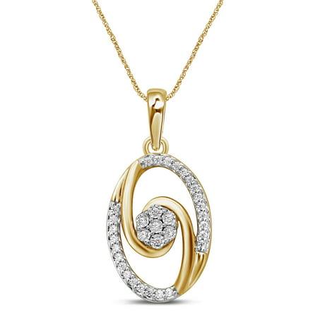 2 Arm Pendant - 10K Gold 0.08 Cttw Diamond Loving Arms Fashion Pendant Necklace