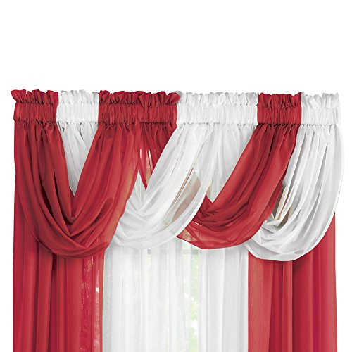 Collections Etc Sheer Scoop Valance Curtains - 2 pc