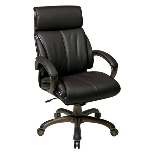 Office Star Executive Eco Leather Chair with Locking Tilt Control