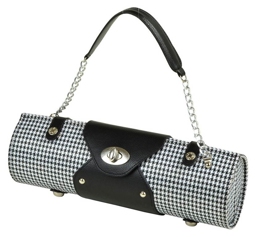 Wine Carrier in Houndstooth