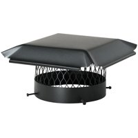 "Draft King CBO12 Single-Flue Black Galvanized-Steel Round Bolt-on Chimney Cap (12"")"