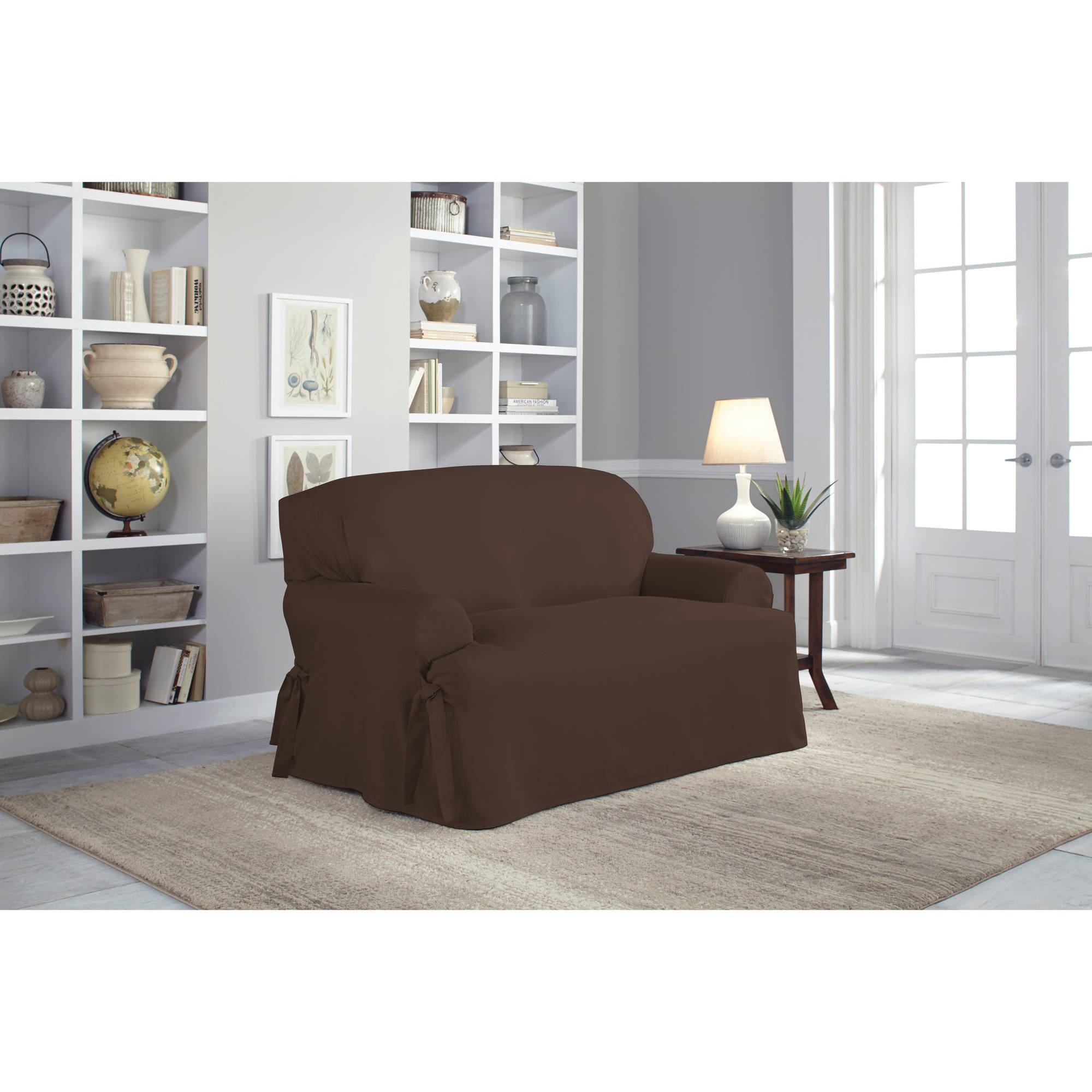 Serta Relaxed Fit Duck Furniture Slipcover Loveseat 1 Piece T