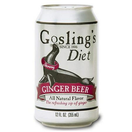 Goslings Diet Stormy Ginger Beer 12 Oz Cans  24 Pack