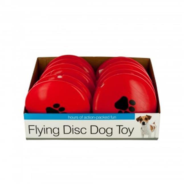 Bulk Buys DI533-12 Flying Disc Dog Toy Countertop Display - 12 Piece