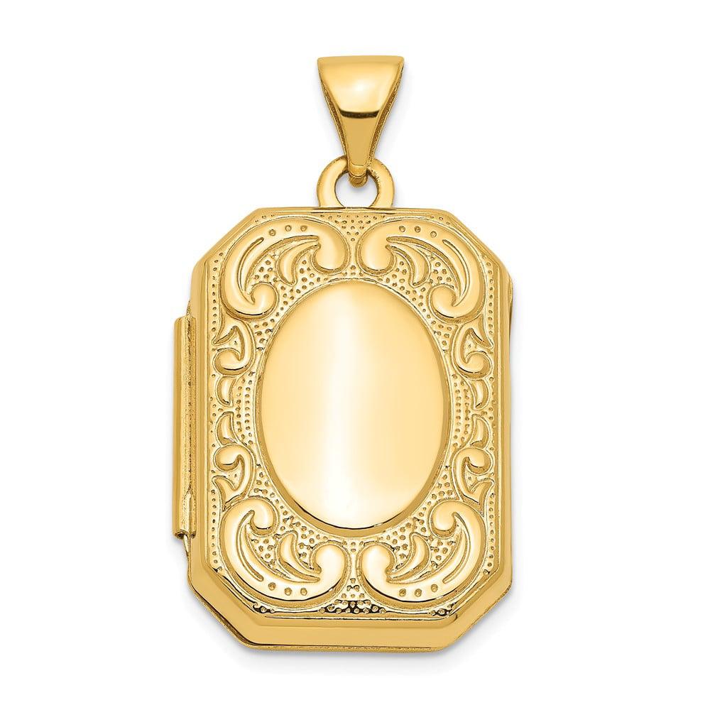 14k Yellow Gold Rectangle Locket