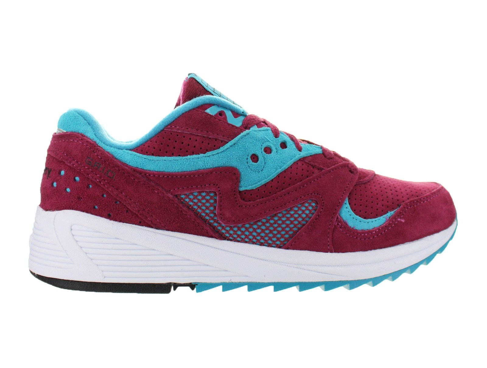 Mens Saucony Grid 8000 Merlot Red Blue White S70223-3 by