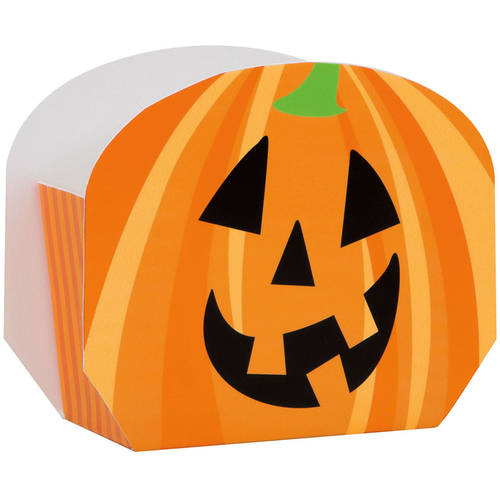 Happy Pumpkin Halloween Favor Boxes, 8-Count