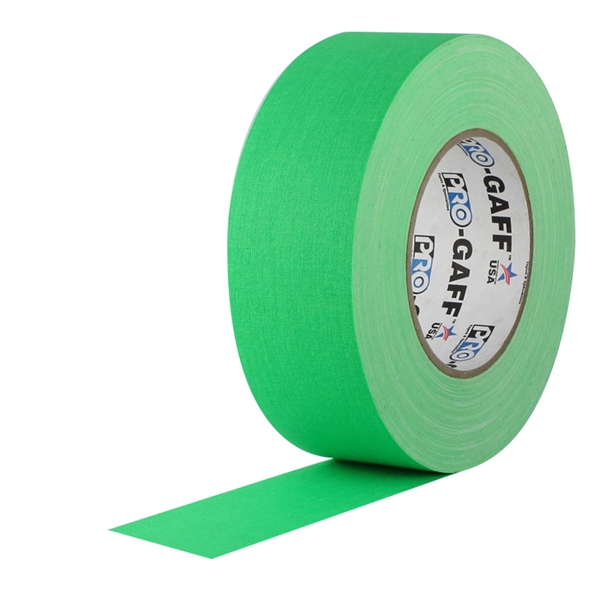 Pro Gaff Fluorescent Green Gaffers Tape 2 inch X 50 yards by