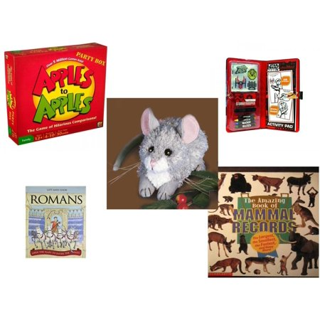 Children's Gift Bundle [5 Piece] -  Apples to Apples Party Box - The  of Crazy Combinations (Family Edition) - Star Wars Storm Trooper Sticker Activity Fun Play Set  - Kernel Mouse   6