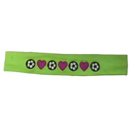 Logo Loops Embroidered Headband - Soccer Balls Lime - Walmart.com d587471b203