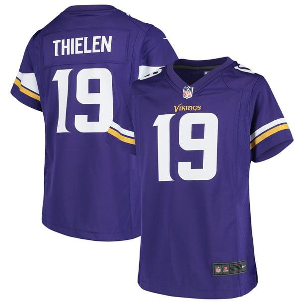 Adam Thielen Minnesota Vikings Nike Girls Youth Game Jersey - Purple