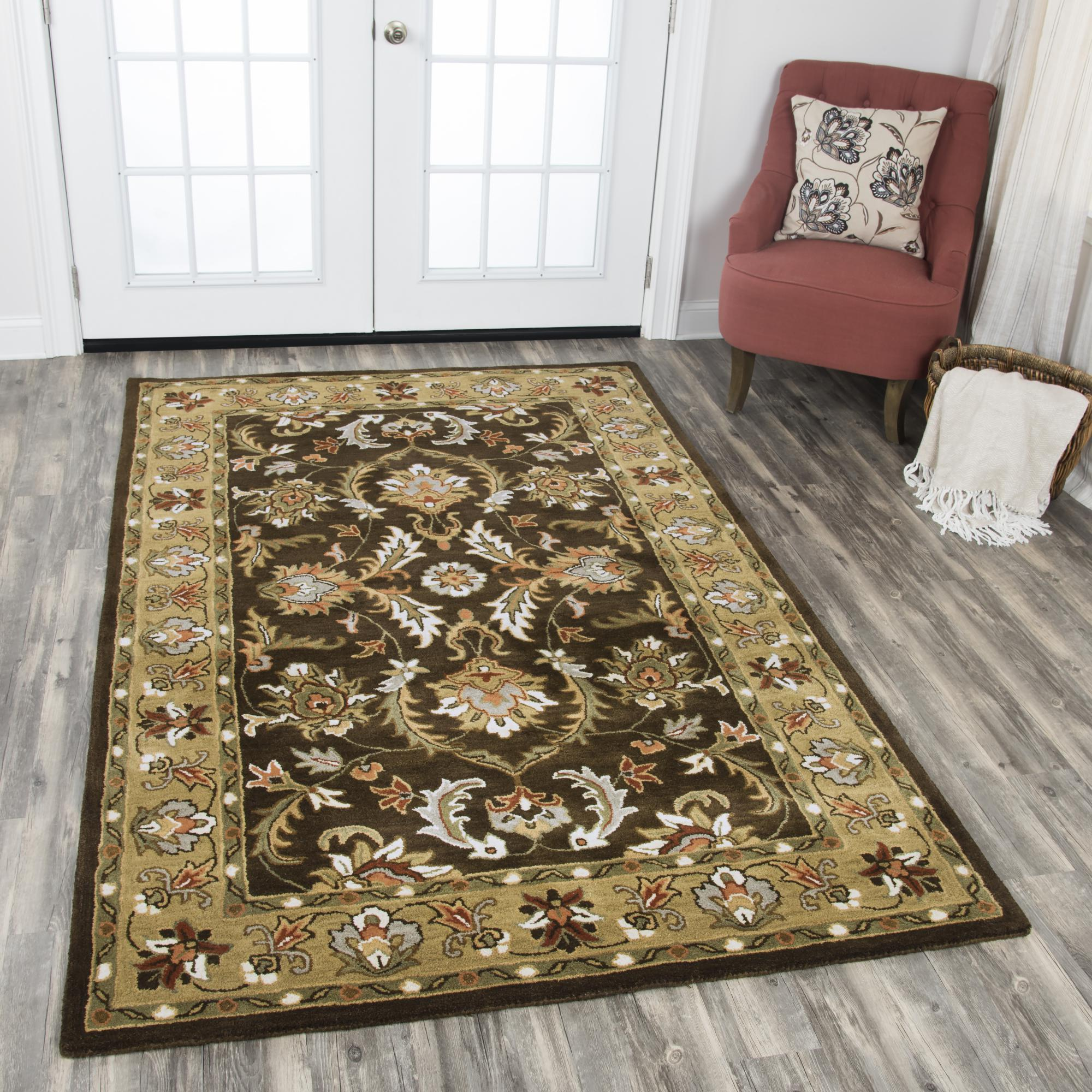 Rizzy Home SA978A Brown 5' x 8' Hand-Tufted Area Rug