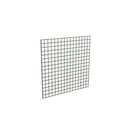 Econoco Black Grid Panel for Retail Display or Home Storage, 4' x 4' - 3 Grid Panels Per Carton