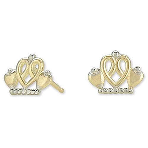 Disney 10kt Gold Princess Tiara Stud Earrings
