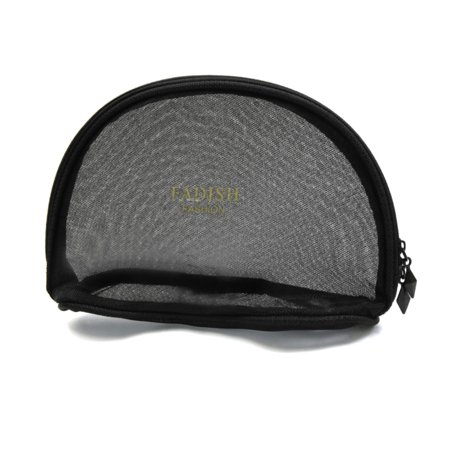 Portable Travel Toiletry Pouch Nylon Mesh Cosmetic Makeup Organizer Bag With Zipper