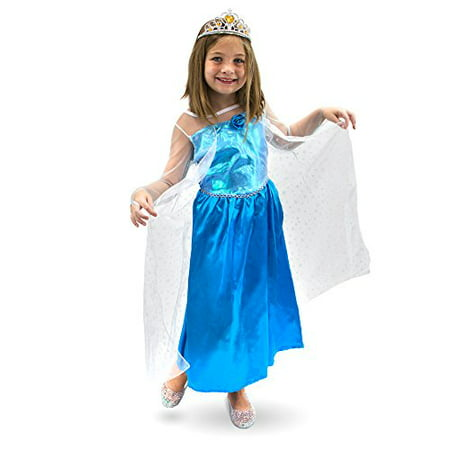 Boo! Inc. Ice Princess Kids Girl Halloween Dress Up Party Roleplay Costume (Kid Halloween Party)