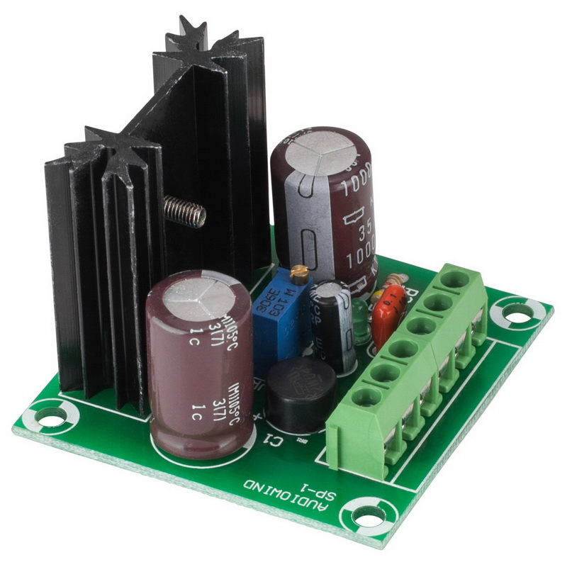 Positive Voltage Adjustable Power Supply Board - AC/DC in DC out - Based on LM317T Regulator IC
