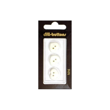 Dill Buttons 15mm 3pc 2 Hole Heart White ()