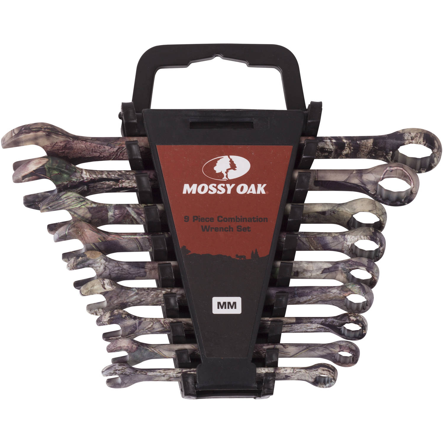 Mossy Oak 9-Piece Combination Wrench Set, Metric