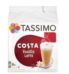 Tassimo Costa Vanilla Latte T DISC, 16-Count (8 Servings)...
