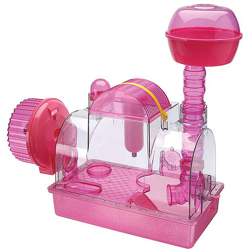 Pink Princess 2-Level Hamster and Gerbil Cage