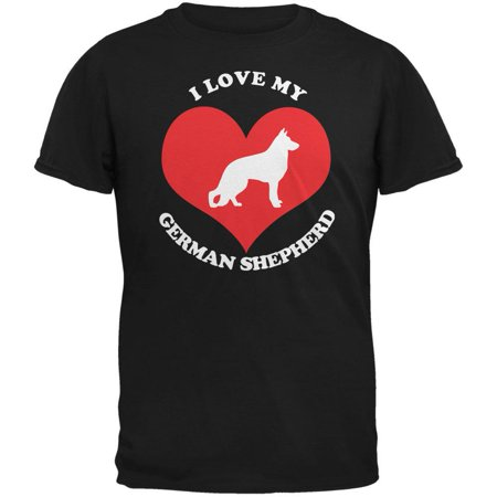 Adult German Shepherd (Valentines I Love My German Shepherd Black Adult)
