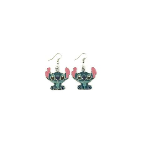 (Disney Cartoon Lilo & Stitch Dangle Earrings)