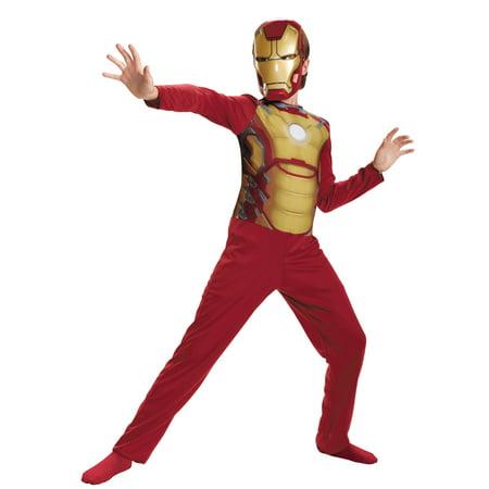 Boy's Iron Man Mark 42 Basic Halloween Costume