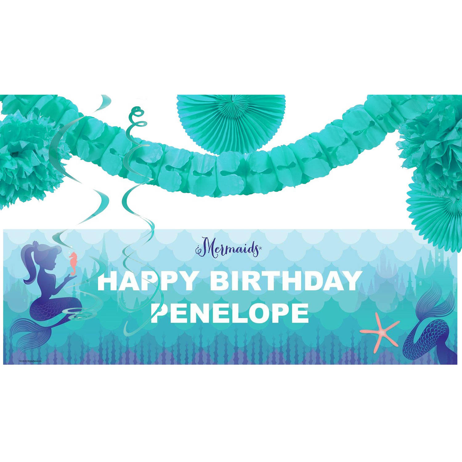 Mermaids Under the Sea Party Banner Decoration Kit