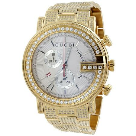 50e53106d4c Gucci - Diamond Watch YA101339 101 G Round White Chronograph 44mm Iced Out  9 Ct - Walmart.com