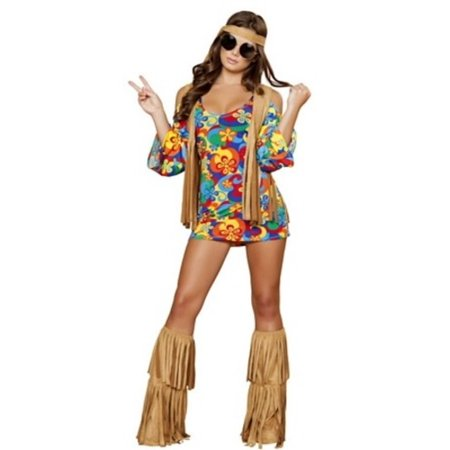 Hippie Hottie Costume Roma Costume 4436 Rainbow