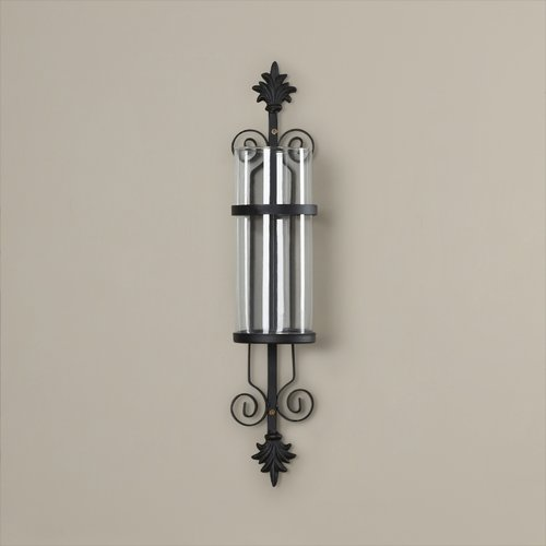 Alcott Hill Glass And Metal Wall Sconce Walmart Com