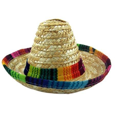 Mini Mexican Sombrero Multi-Color Fiesta Party Hat Accessory, 5 Inch - Mini Sombrero Hats