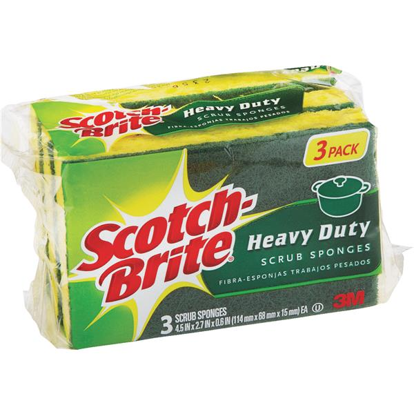 3M Scotchbrite Scrub Sponge HD-3