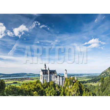Neuschwanstein Castle in the Bavarian Alps of Germany. Print Wall Art By - Bavarian Castle