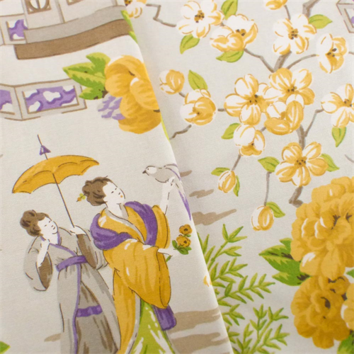 Multi P/Kaufmann Japanese Toile Print Home Decorating ...
